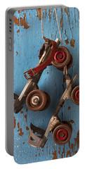 Old Roller Skates Portable Battery Charger