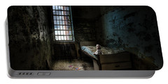 Old Room - Abandoned Places - Room With A Bed Portable Battery Charger
