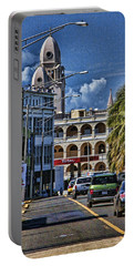 Old San Juan Cityscape Portable Battery Charger by Daniel Sheldon