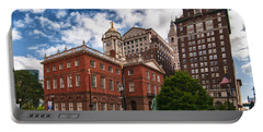 Old State House Portable Battery Charger by Guy Whiteley
