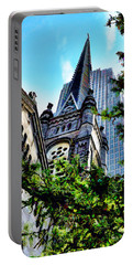 Portable Battery Charger featuring the photograph Old Stone Church - Cleveland Ohio - 1 by Mark Madere