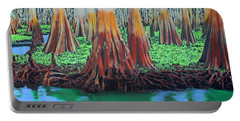 Portable Battery Charger featuring the painting Old Swampy by Deborah Boyd