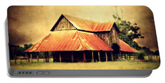 Old Texas Barn Portable Battery Charger by Julie Hamilton