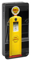 Portable Battery Charger featuring the photograph Old Time Gas Pump by David Lawson
