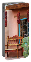 Old Town Albuquerque Shop Window Portable Battery Charger by Catherine Sherman