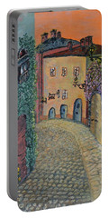 Portable Battery Charger featuring the painting Old Town In Piedmont by Felicia Tica