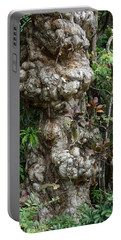 Portable Battery Charger featuring the mixed media Old Tree by Rafael Salazar