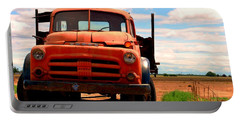 Portable Battery Charger featuring the photograph Old Truck by Matt Harang