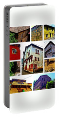 Old Turkish Houses Portable Battery Charger by Zafer Gurel