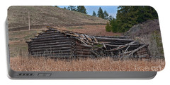 Old Turn Of The Century Log Cabin Homestead Art Prints Portable Battery Charger