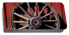 Old Wagon Wheel Portable Battery Charger