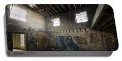 Old Warehouse Interior Portable Battery Charger by Scott Norris