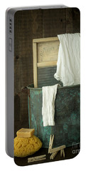 Old Washboard Laundry Days Portable Battery Charger