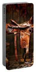 Old Western Saddle Portable Battery Charger