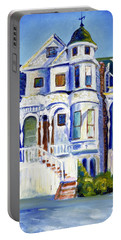 Old White Victorian In Oakland California Portable Battery Charger