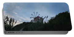 Old Wind Mill 1830 Portable Battery Charger by George Katechis