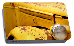 Old Yellow Truck Portable Battery Charger by Art Block Collections