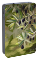 Portable Battery Charger featuring the painting Olive Tree by Go Van Kampen
