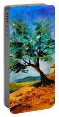 Olive Tree On The Hill Portable Battery Charger