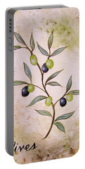 Olives Painting Portable Battery Charger