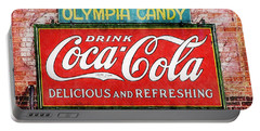 Portable Battery Charger featuring the painting Olympia Candy by Sandy MacGowan