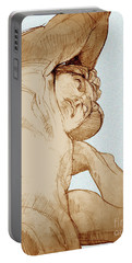 Portable Battery Charger featuring the drawing Olympic Athletics Discus Throw by Greta Corens