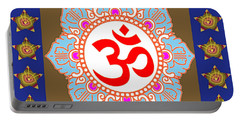 Om Mantra Ommantra Chant Yoga Meditation Tool Portable Battery Charger by Navin Joshi