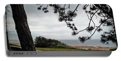 Omaha Beach Under Trees Portable Battery Charger by Joan  Minchak