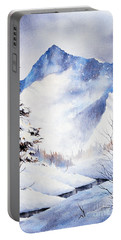 Portable Battery Charger featuring the painting O'malley Peak by Teresa Ascone
