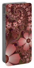 Portable Battery Charger featuring the digital art On A Summer Evening by Gabiw Art