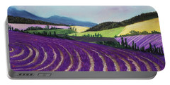 On Lavender Trail Portable Battery Charger