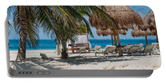White Sandy Beach In Isla Mujeres Portable Battery Charger
