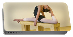 Practicing Ballet On The Bench Portable Battery Charger