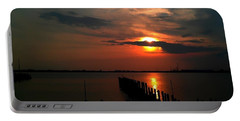 On The Boardwalk Portable Battery Charger by Debra Forand