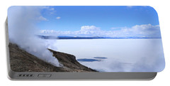 Portable Battery Charger featuring the photograph On The Edge Of Lake Yellowstone by Michele Myers