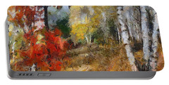 On The Edge Of The Forest Portable Battery Charger by Dragica  Micki Fortuna