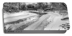On The Riverbank Bw Portable Battery Charger