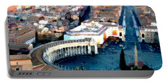 Portable Battery Charger featuring the digital art On Top Of Vatican 1 by Brian Reaves