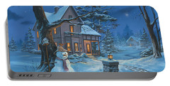 Once Upon A Winter's Night Portable Battery Charger by Michael Humphries