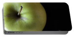 One Apple - Still Life Portable Battery Charger by Wendy Wilton