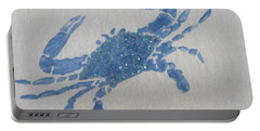 One Blue Crab On Sand Portable Battery Charger