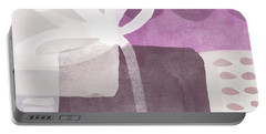 One Flower- Contemporary Painting Portable Battery Charger by Linda Woods