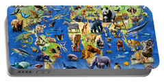 One Hundred Endangered Species Portable Battery Charger by Adrian Chesterman