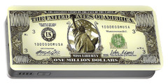 One Million Dollar Bill Portable Battery Charger