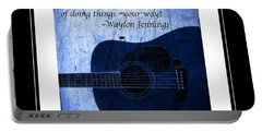 One More Way - Waylon Jennings Portable Battery Charger