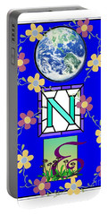 Portable Battery Charger featuring the digital art Universal One-ness by Bobbee Rickard