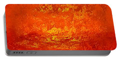 One Night In Old Shanghai By Rjfxx.-original Minimalist Abstract Art Painting Portable Battery Charger by RjFxx at beautifullart com