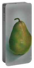 One Of A Pear Portable Battery Charger by Pamela Clements