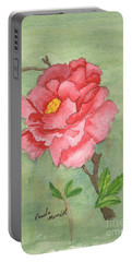 One Rose Portable Battery Charger by Pamela  Meredith