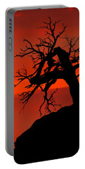 Portable Battery Charger featuring the photograph One Tree Hill Silhouette by Greg Norrell